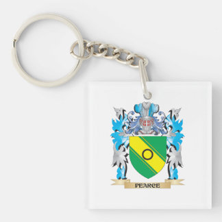 Pearce Coat of Arms - Family Crest Square Acrylic Key Chain