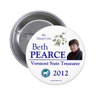 Pearce for VT State Treasurer 2012 Buttons