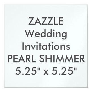 """PEARL 110lb 5.25"""" Square Wedding Invitations"""