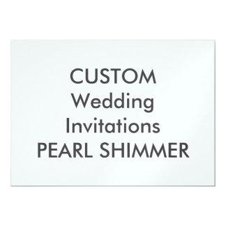 "PEARL 110lb 7"" x 5"" Wedding Invitations"