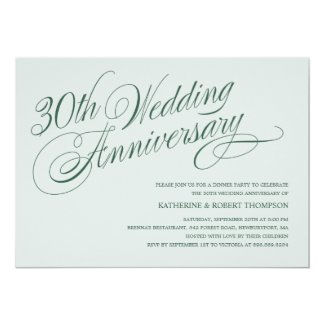 Pearl 30th Wedding Anniversary Invitations