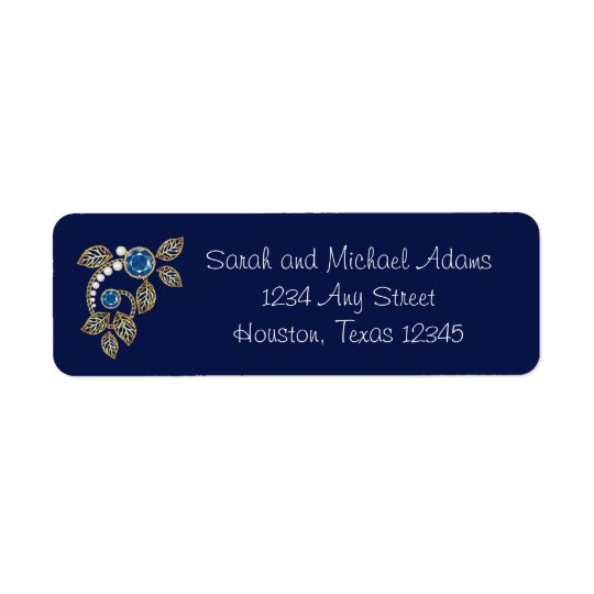 Pearl and Gold Filigree Return Address Label