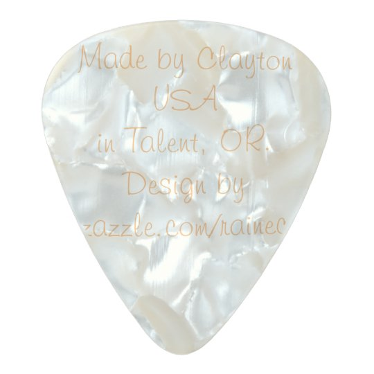 Pearl Celluloid Medium Gauge .80mm Custom Pick
