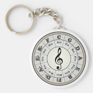 """Pearl"" Circle of Fifths Keychain"