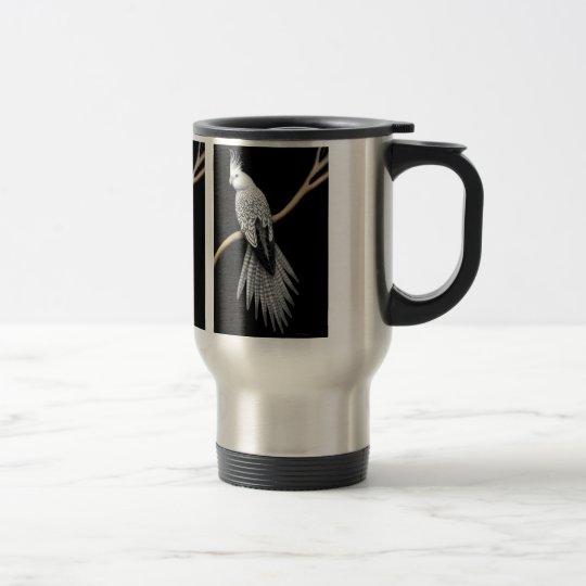 Pearl Cockatiel Parrot Travel Mug