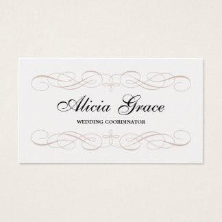 Pearl Finish Pretty & Elegant Calligraphic Business Card