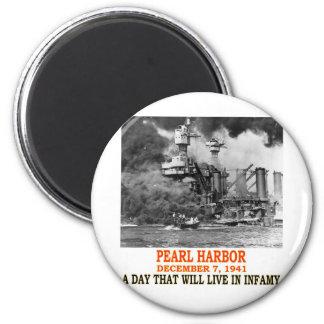 PEARL HARBOR 6 CM ROUND MAGNET