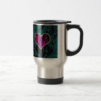 Pearl Heart Travel Mug