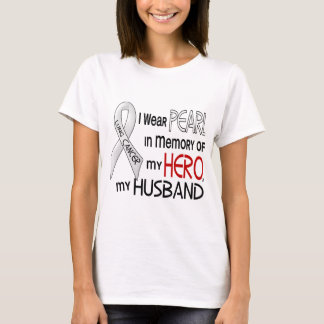 Pearl In Memory Of My Husband Lung Cancer T-Shirt