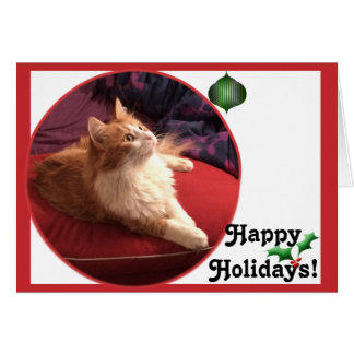 Pearl Kitty Cat Holiday! Card
