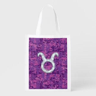 Pearl Like Taurus Zodiac Sign on Digital Camo