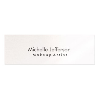 Pearl Makeup Artist White Stylish Business Card