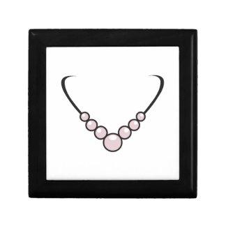 Pearl Necklace Small Square Gift Box