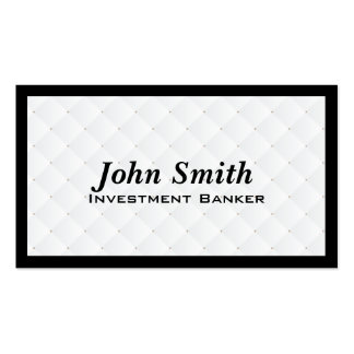 Pearl Quilt Investment Banker Business Card