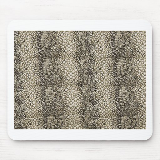 PEARL RATTLE SNAKE LEATHER TEXTURE MOUSE PADS