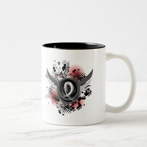 Pearl Ribbon And Wings Mesothelioma Coffee Mug
