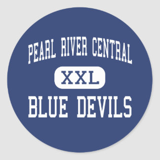 Pearl River Central - Blue Devils - Carriere Classic Round Sticker