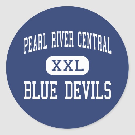 Pearl River Central - Blue Devils - Carriere Stickers