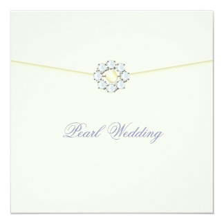 Pearl Wedding Anniversary with Diamonds & Pearls Card