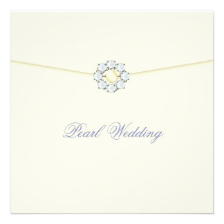 Pearl Wedding Anniversary with Diamonds Pearls Custom Announcement