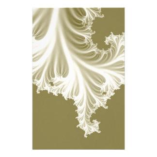 Pearl wedding dress train effect 3D fractal. Stationery