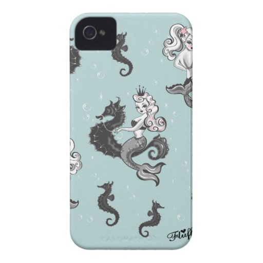 Pearla Mermaid Blackberry Case by Fluff