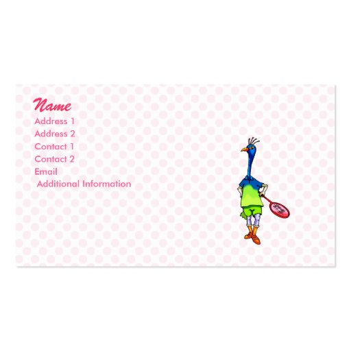 Pearla Peacock Business Card Templates