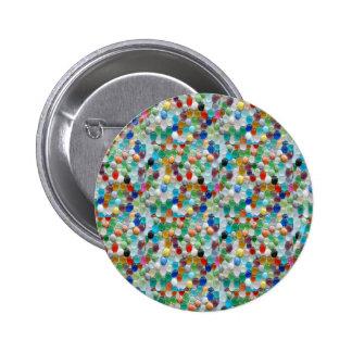 PEARLE Colorful Natural Stones : ENJOY EVERYONE 6 Cm Round Badge