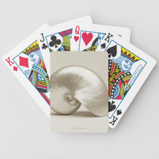 Pearlised nautilus sea shell bicycle playing cards