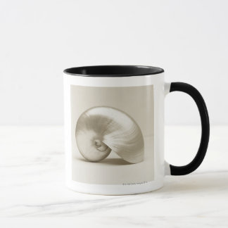 Pearlised nautilus sea shell mug