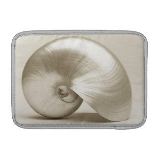 Pearlised nautilus sea shell sleeve for MacBook air