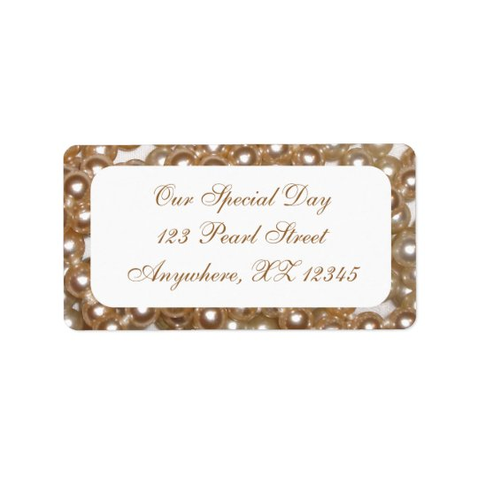 Pearls Address Label