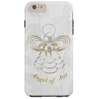 Pearls and Gold - Metallic Christmas Angel of Joy Tough iPhone 6 Plus Case