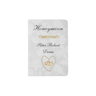 Pearls and Lace Grooms Custom Passport Holder