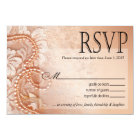 Pearls and Lace RSVP Response Card | perfect peach