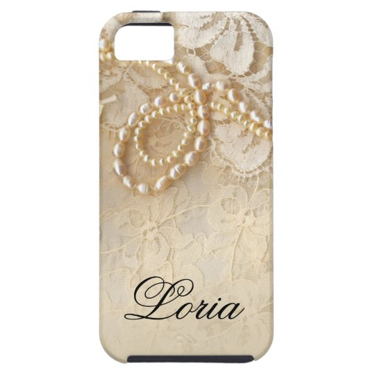 Pearls and Lace Signature | eggshell iPhone 5
