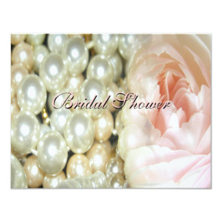 Pearls and Roses Bridal Shower Invitation