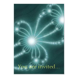 Pearls from the Deep 1 Aqua 13 Cm X 18 Cm Invitation Card