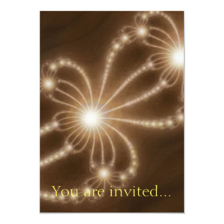 Pearls from the Deep 1 Brown 13 Cm X 18 Cm Invitation Card