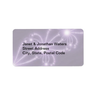 Pearls from the Deep 1 Purple Address Label