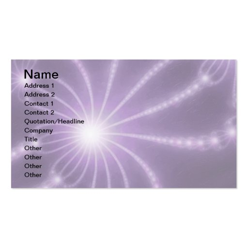 Pearls from the Deep 1 Purple Pack Of Standard Business Cards