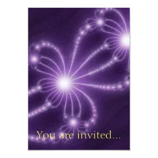 Pearls from the Deep 1 Purple 13 Cm X 18 Cm Invitation Card