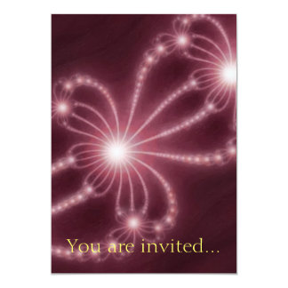 Pearls from the Deep 1 Red 13 Cm X 18 Cm Invitation Card