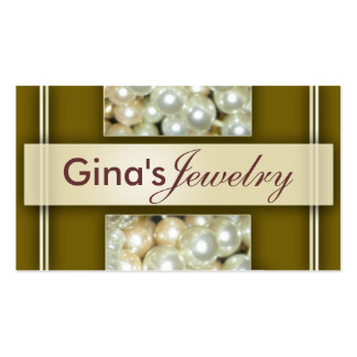 Pearls Jewelry Business Cards