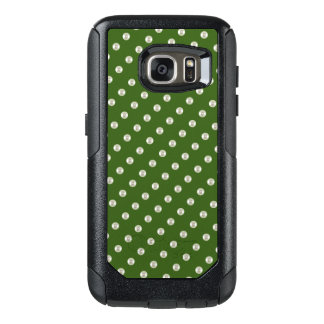Pearls on forest green OtterBox samsung galaxy s7 case