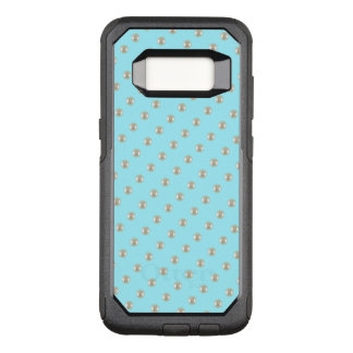 Pearls on sky blue OtterBox commuter samsung galaxy s8 case