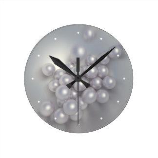 Pearls Round Clock