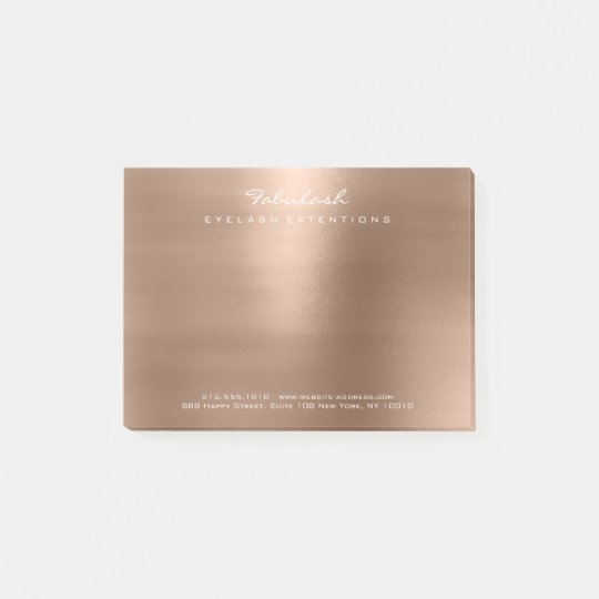 Pearly Blush Coffe Rose Gold Powder Minimal Post-it