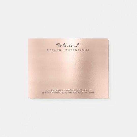 Pearly Blush Pink Rose Gold Powder Minimal Post-it