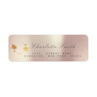 Pearly Champaign Golden Foil Return Address Labels